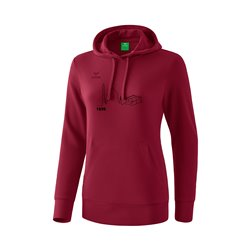 Kapuzensweat bordeaux (Damen)