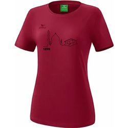 T-Shirt bordeaux (Damen)